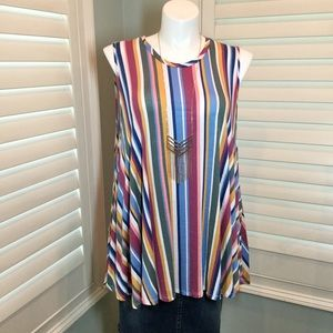 Lane Bryant Sleeveless Striped Swing Tunic, 26/28